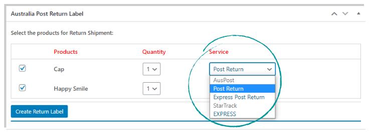 ELEX WooCommerce Australia Post Return Label Add-On | Choose the Return Shipping Service