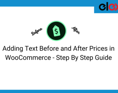 step by step guide for adding text before and after prices