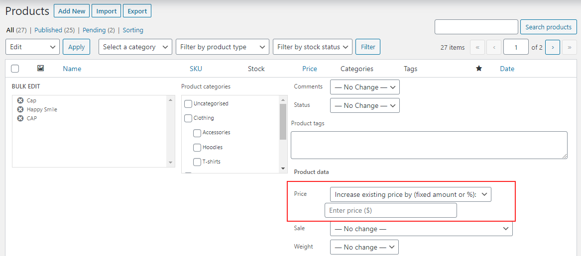 Set Up Bulk Pricing for WooCommerce | Setting up sale price in bulk