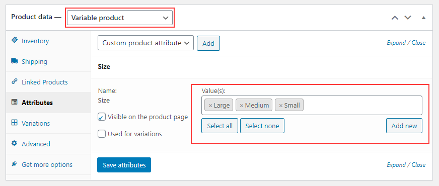 Set Up Multiple Prices Per Product on WooCommerce | Add-attribute-values