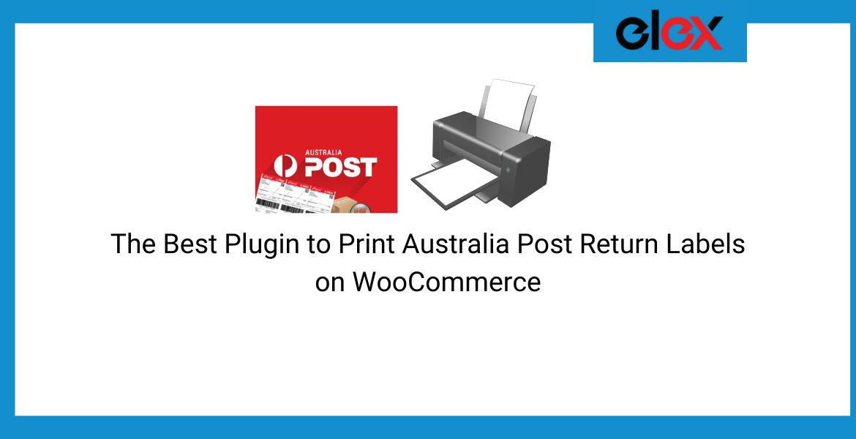 print Australia Post Return Labels on WooCommerce