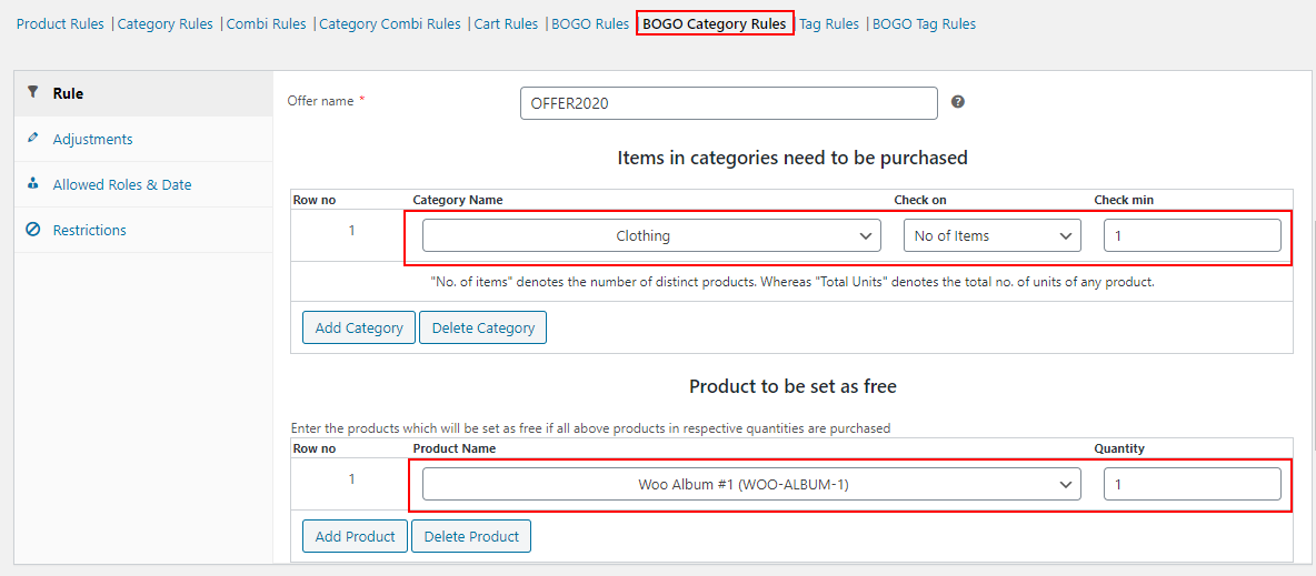 Set Up WooCommerce Sitewide Discount | bogo category rules