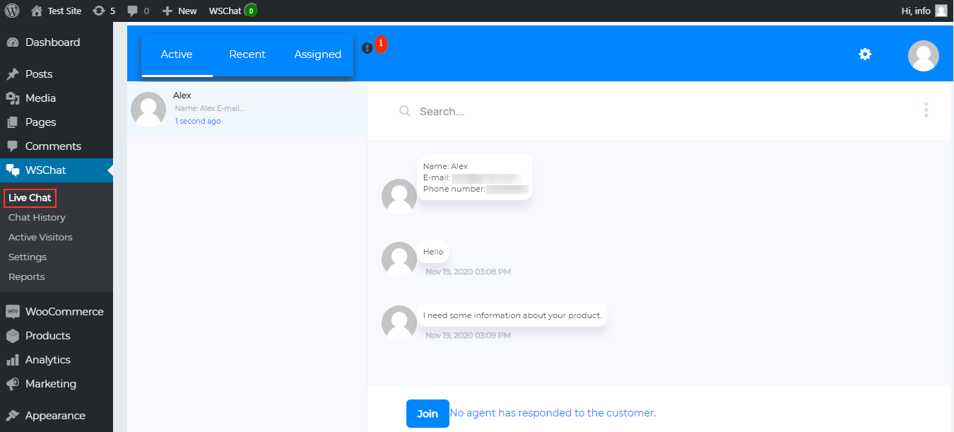 How to Add Live Chat in WordPress | incoming-chat-from-customers