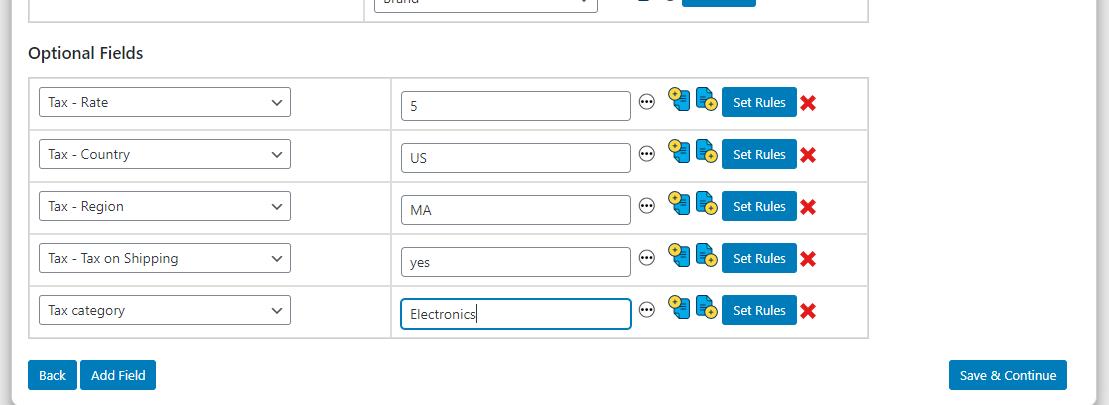 ELEX WooCommerce Google Shopping Plugin | map tax fields