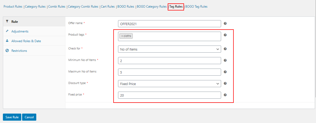 How to Change Product Price Based on Quantity on WooCommerce? | tag-rules-quantity-based-pricing