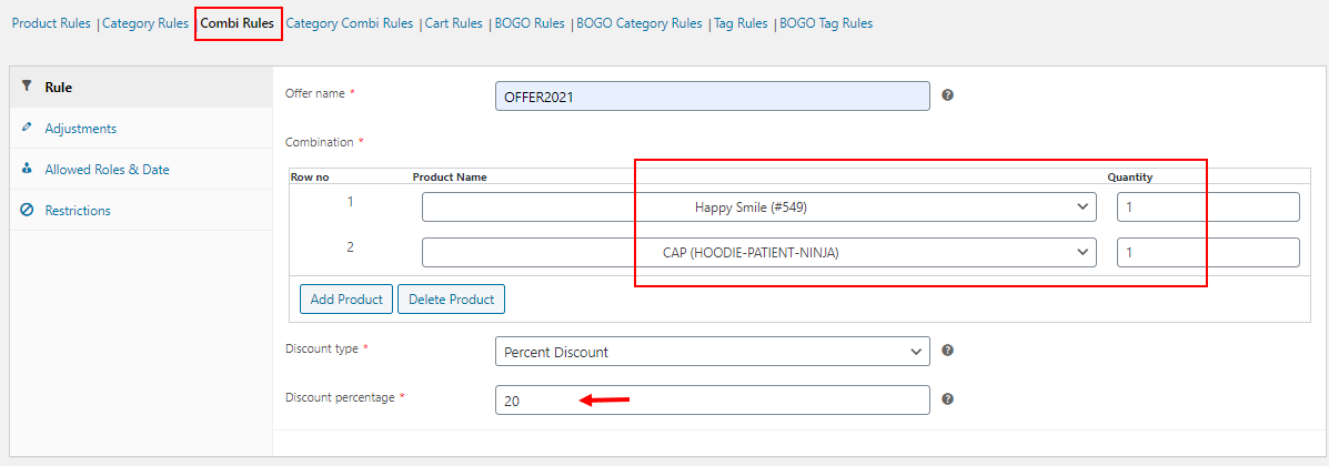 Reasons for WooCommerce Dynamic Pricing Not Working   Combinational rule examples