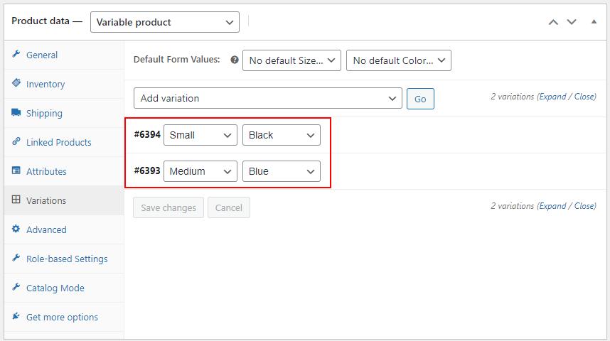 Create Bulk Variations using the ELEX WoCommerce Bulk Edit | Ship Your Idea Variations