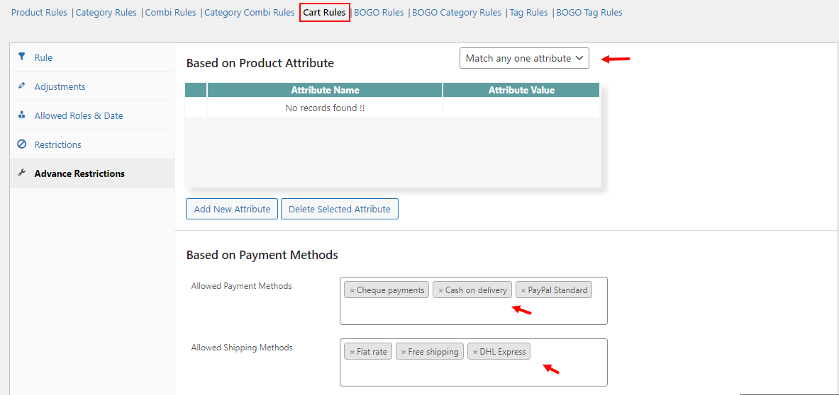 All About Setting Up Discount Rules for WooCommerce   Advance Restrictions of Cart Rules