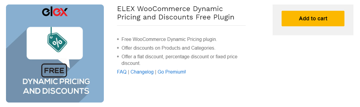 ELEX WooCommerce Dynamic Pricing and Discounts Free Plugin