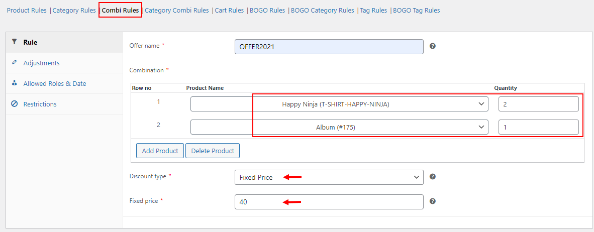 All About Setting Up Discount Rules for WooCommerce   Example of a combinational rule