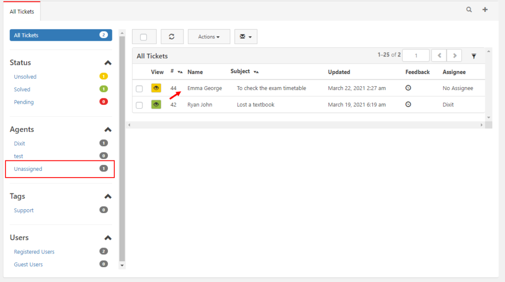 How to Set Up a Simple & Efficient Open Source Help Desk Management System for College and Schools? | Unassigned ticket