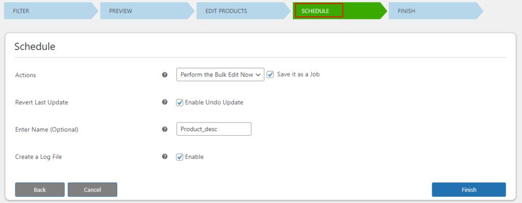 How to Bulk Edit Based Description and Short Description on Your WooCommerce Site?   schedule bulk edits