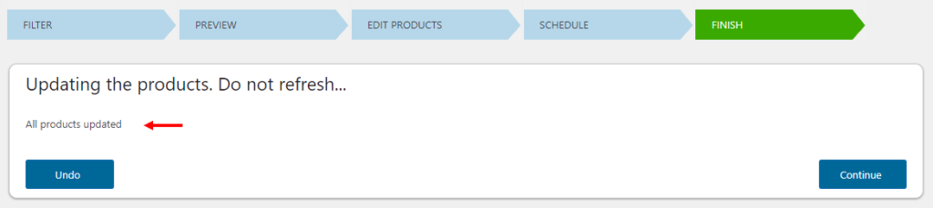 How to Bulk Edit Based on Stock Status on Your WooCommerce Site? | updated message