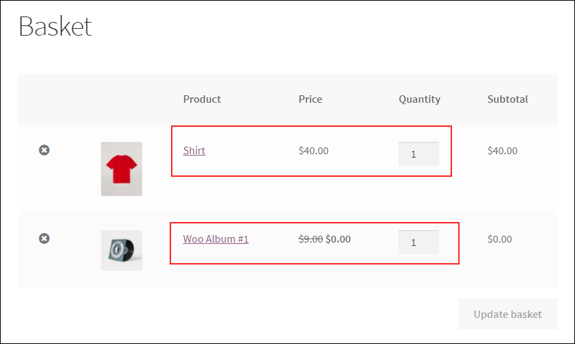 An Ultimate Guide on WooCommerce Dynamic Pricing | BOGO-Rules-on-cart-page