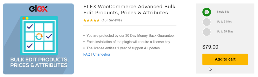 ELEX WooCommerce Advanced Bulk Edit Products, Prices & Attributes