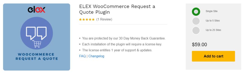 ELEX WooCommerce Request a Quote Plugin