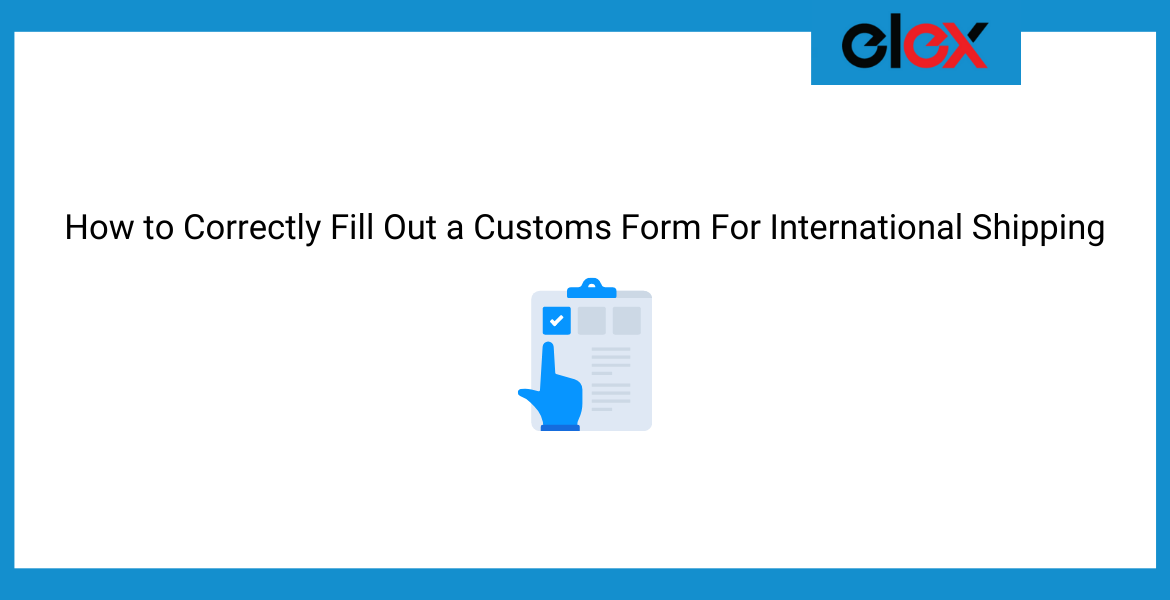 Customs Form For International Shipping