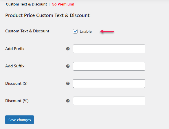 How to Set Up WooCommerce Custom Price Labels? | enabling custom price label