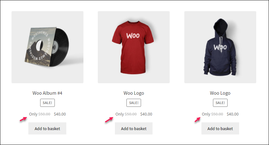How to Set Up WooCommerce Custom Price Labels? | prefix on the shop page
