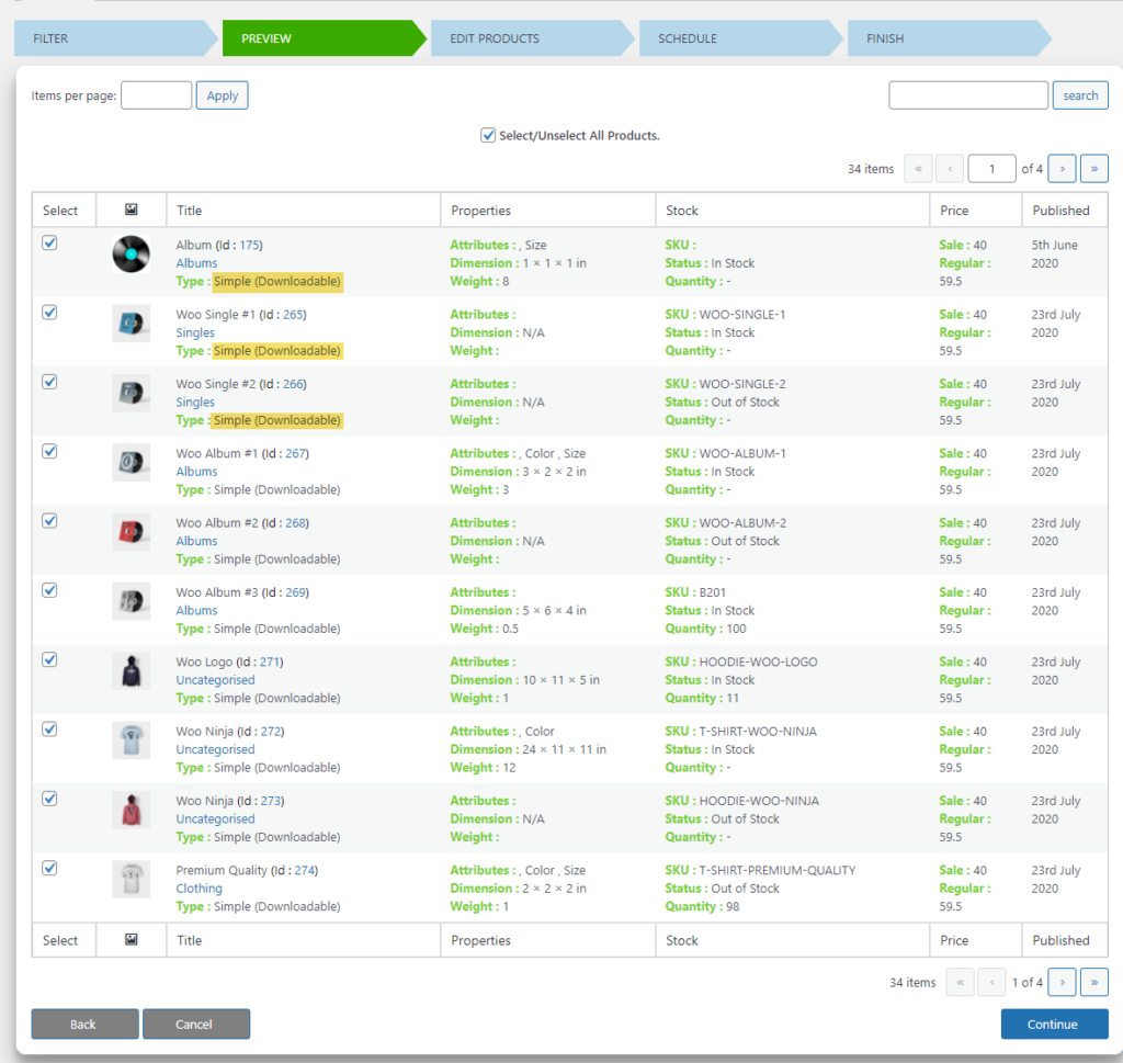 How to Bulk Convert Simple product to Variable product on your WooCommerce Site?   preview page