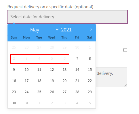 ELEX WooCommerce Choose Your Delivery Date Plugin | Restricted minimum number of delivery days