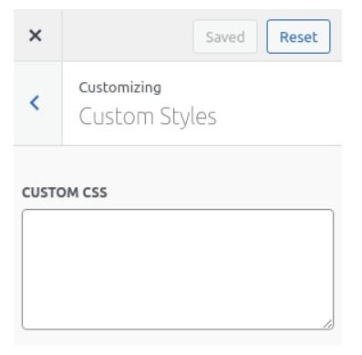 Custom CSS Code -ELEXtensions