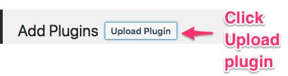 Click the upload plugin buton - ELEXtensions