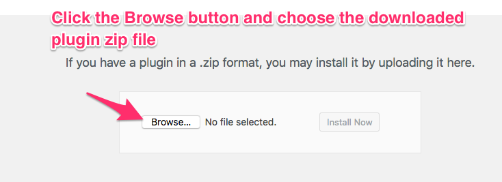 Click the Browse button and choose the downloaded plugin - ELEXtension