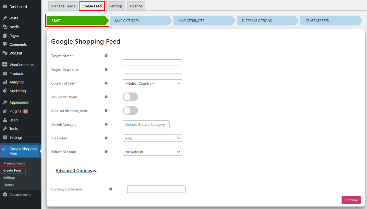How to Generate Vendor Specific Google Shopping Feed on your WooCommerce Multi-Vendor Store?   Create-Google-Product-feed-tab