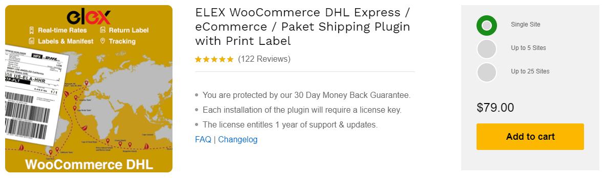 ELEX WooCommerce DHL Express Plugin