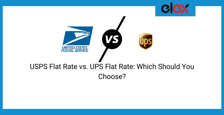 USPS Flat Rate vs. UPS Flat Rate