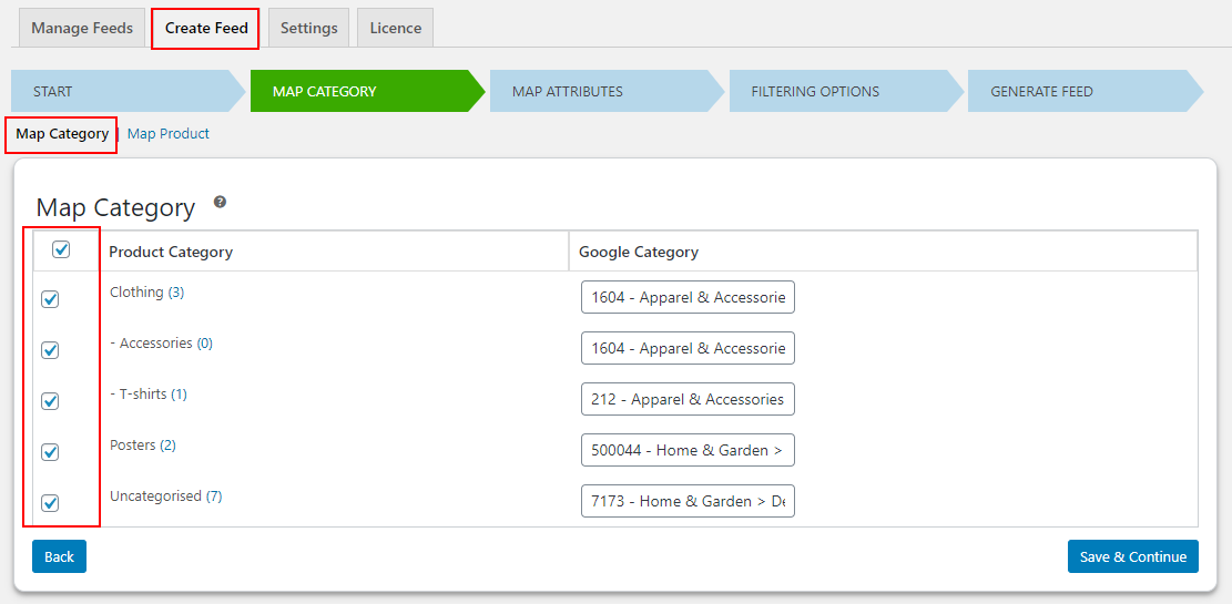 How to Generate Vendor Specific Google Shopping Feed on your WooCommerce Multi-Vendor Store?   Map-Category