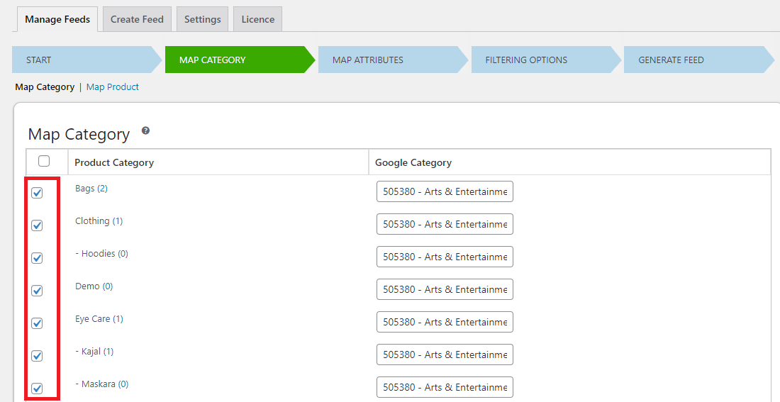 How to Create a Google Product feed Based on Specific Vendors using the ELEX Google Shopping plugin | Map categories
