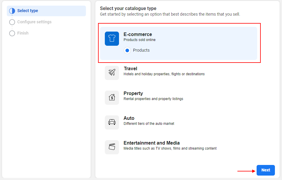 ELEX WooCommerce Catalog Feed for Facebook & Instagram plugin   Select your catalogue type