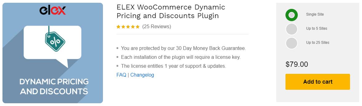 ELEX WooCommerce Dynamic Pricing and Discounts Plugin