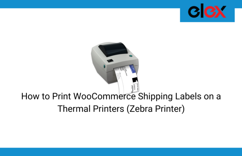 print WooCommerce shipping labels on Thermal Printers