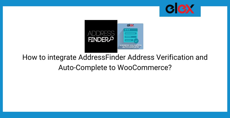 AddressFinder Address verification