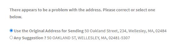 WooCommerce address validation for United States