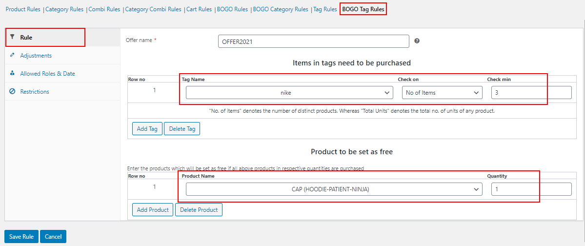 All About Setting Up Dynamic Pricing with Discount Rules for WooCommerce   bogo-tag-rules-example (1)