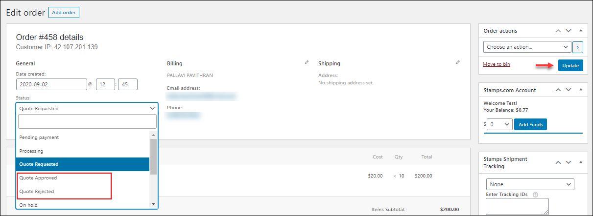 How to Accept, Deny & Update Quotes on Your WordPress WooCommerce Site? |