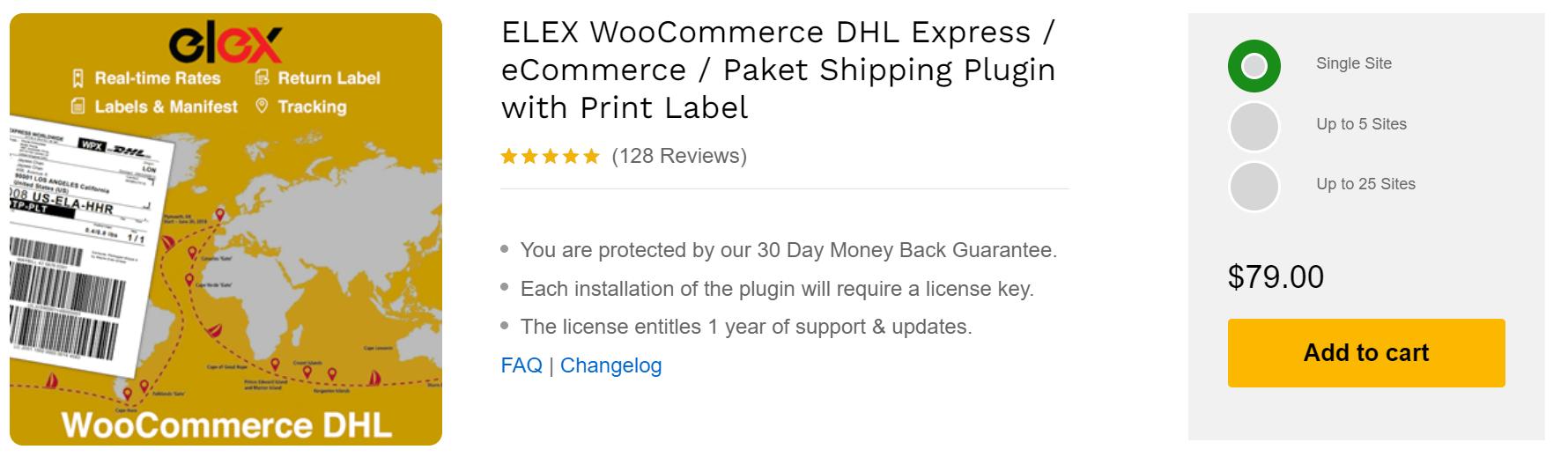 ELEX WooCommerce DHL Express