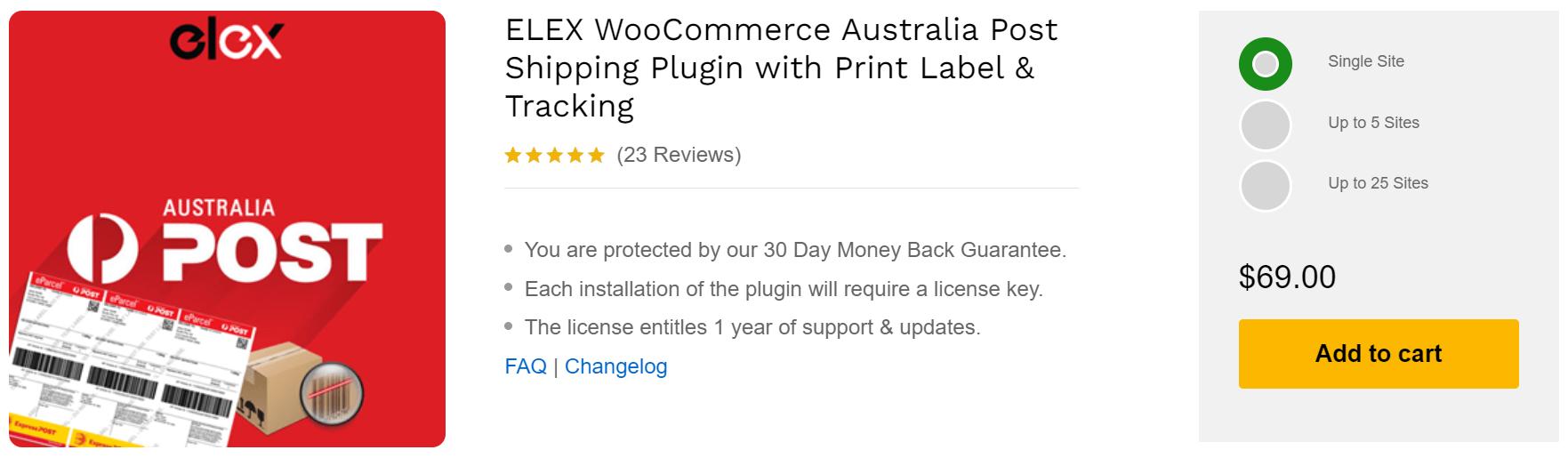 ELEX WooCommerce Australia Post Shipping Plugin