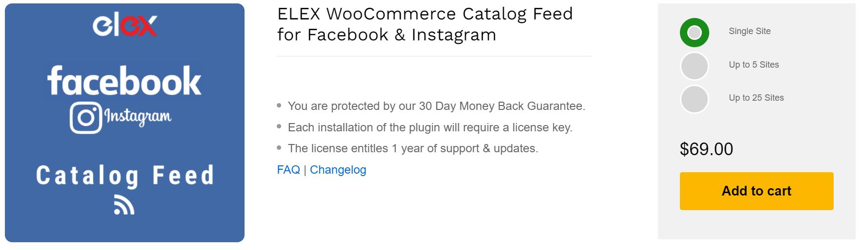 ELEX WooCommerce Catalog Feed Plugin for Facebook & Instagram