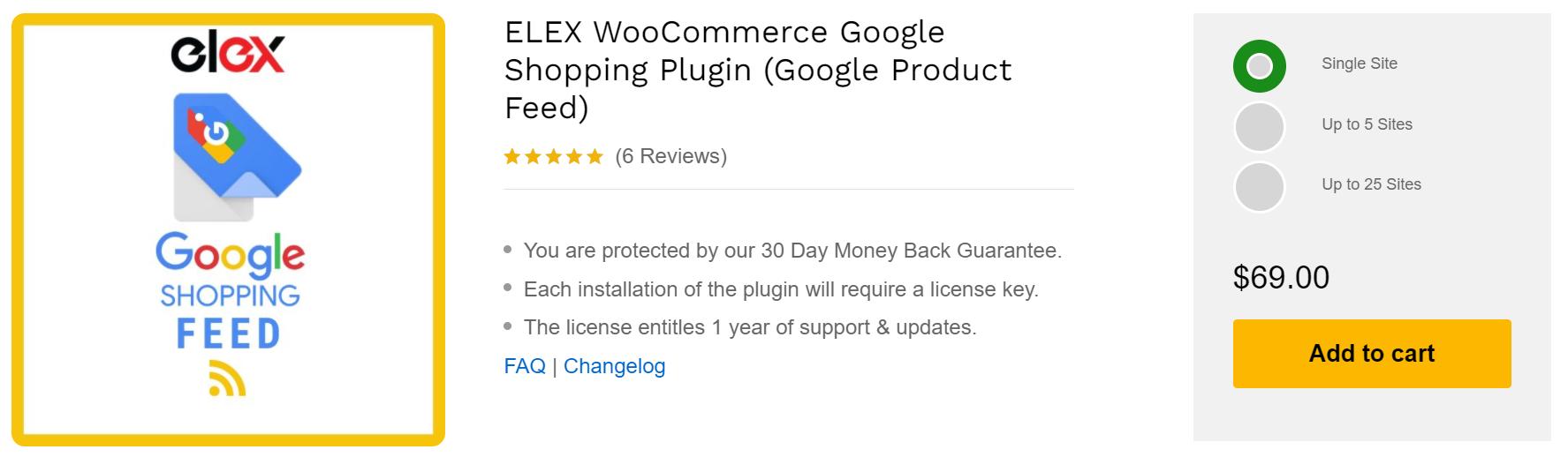 ELEX Google Product Feed Plugin